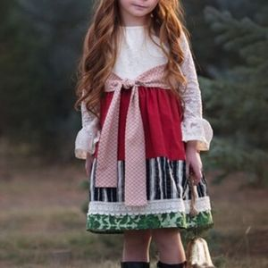 Persnickety holly berry Christmas/Holiday dress
